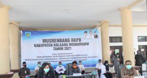Bupati Yasti, saat membuka pelaksanaan Musrenbang RKPD Tahun 2021