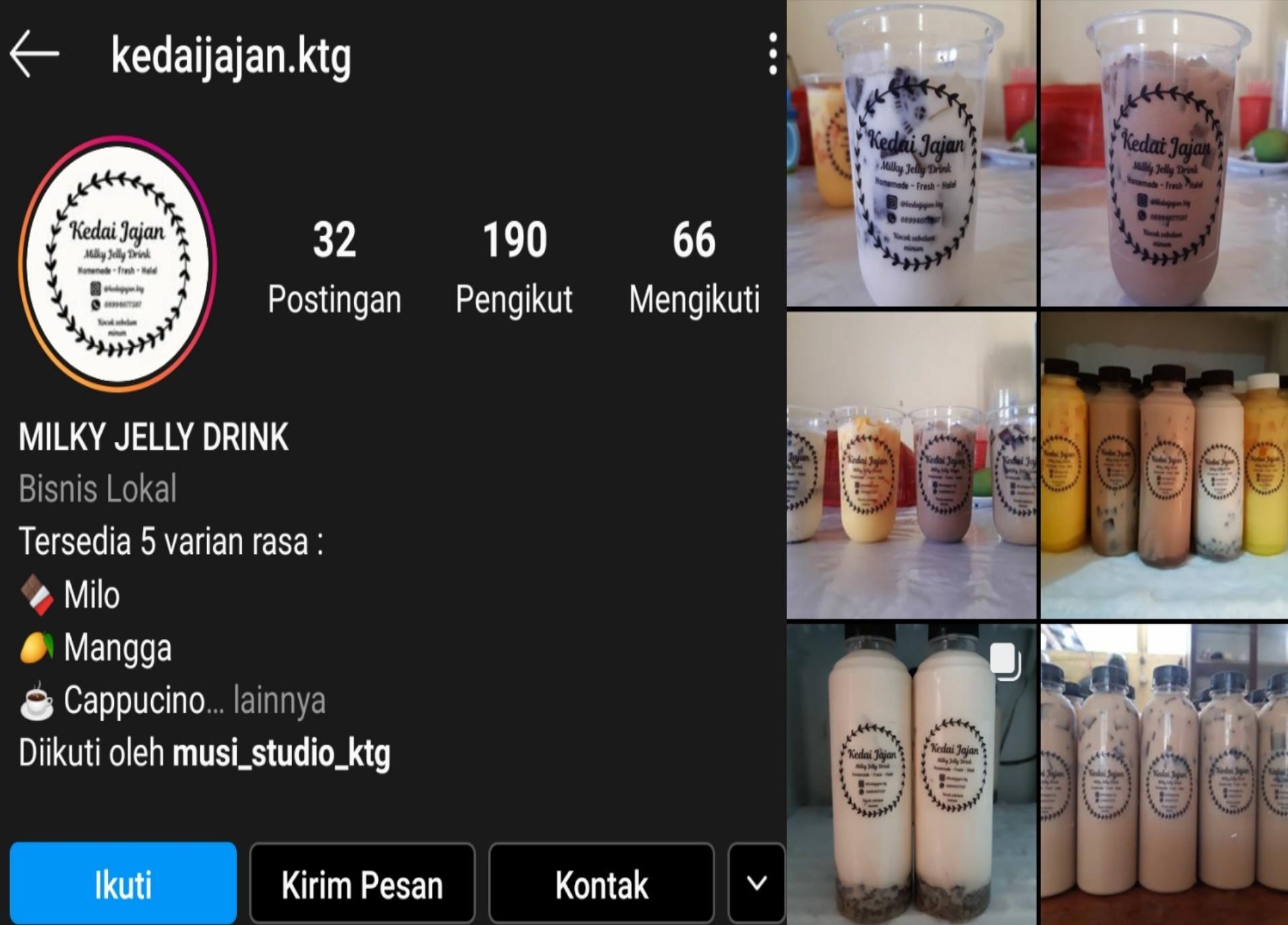 Promosi Lewat Instagram Milky Jelly Buatan Warga Matali Ini Banyak Diminati